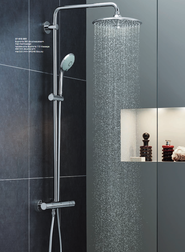 waterbesparende regendouche comfortabel n duurzaam douchen. Black Bedroom Furniture Sets. Home Design Ideas