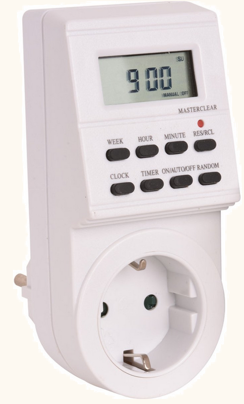 promax tijdklok decoder stroom besparen